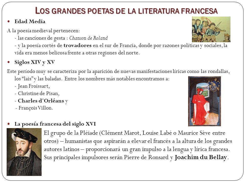 Los grandes poetas de la literatura francesa