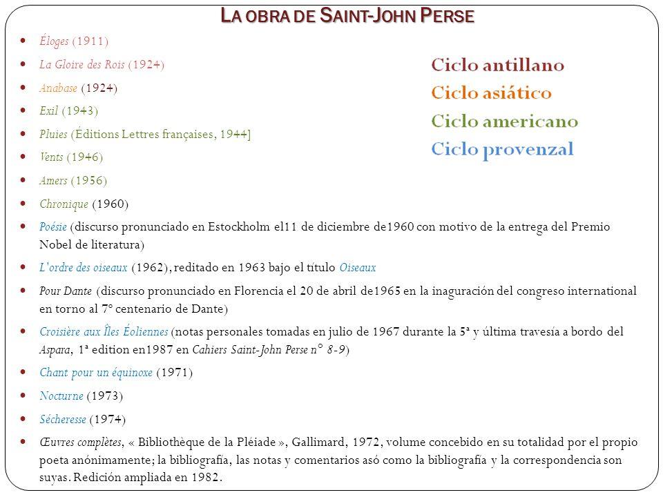 La obra de Saint-John Perse