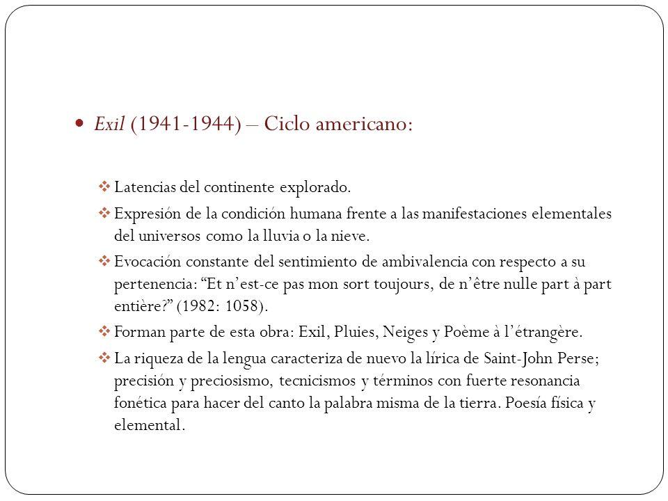 Exil (1941-1944) – Ciclo americano: