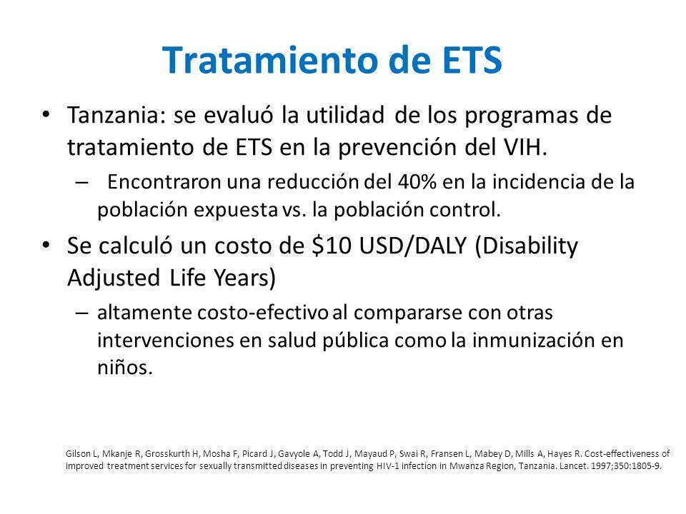 Transmisión sexual Tratamiento de ETS