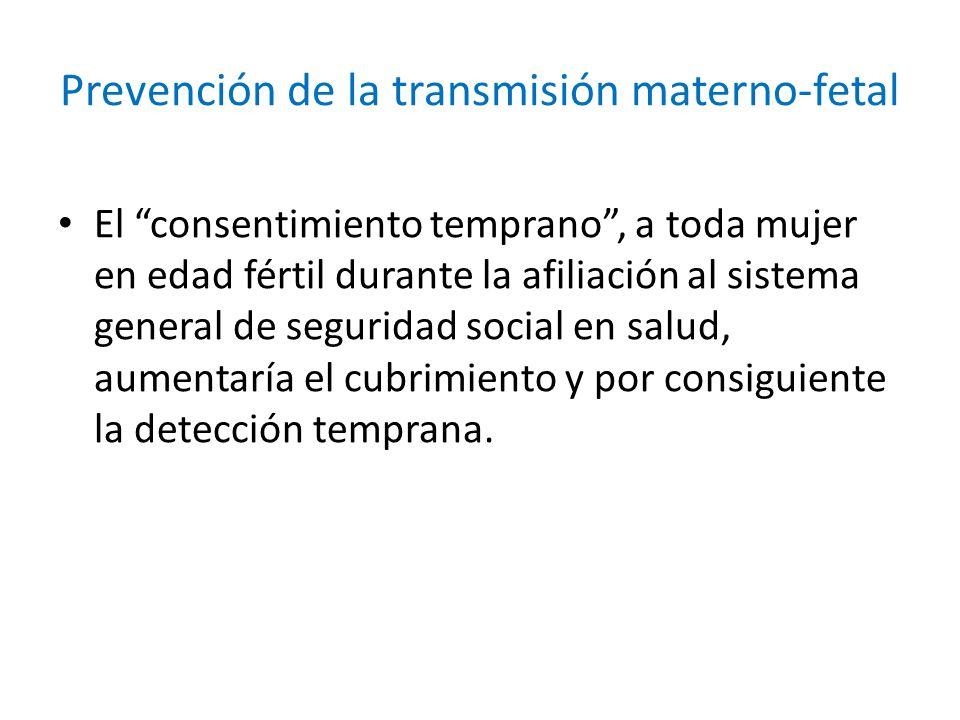 Prevención de la transmisión materno-fetal