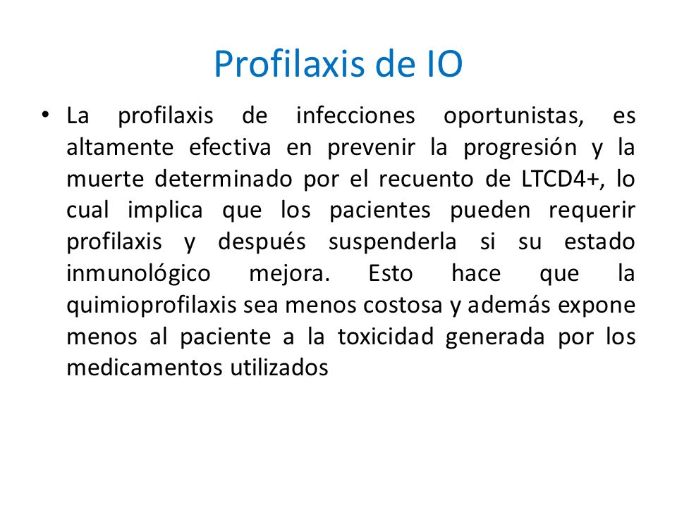 Profilaxis de IO