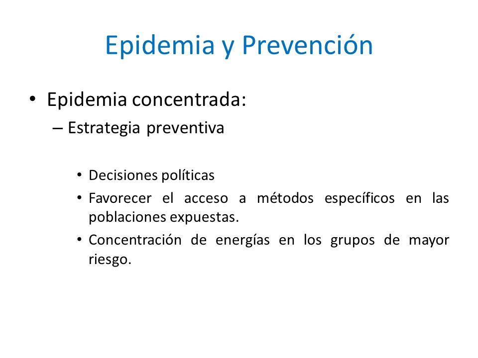 Epidemia y Prevención Epidemia concentrada: Estrategia preventiva