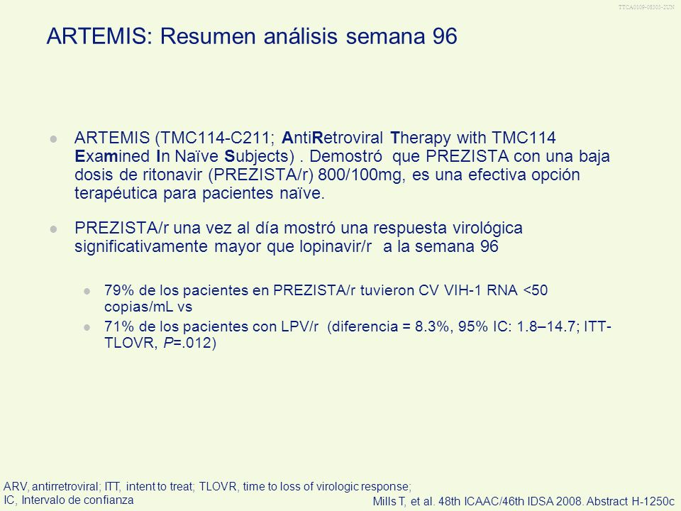 ARTEMIS: Resumen análisis semana 96