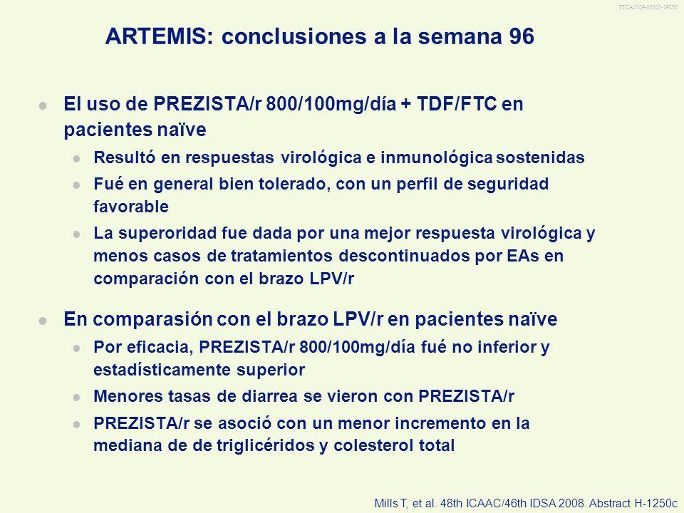 ARTEMIS: conclusiones a la semana 96