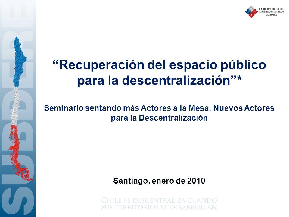 Recuperación del espacio público para la descentralización *