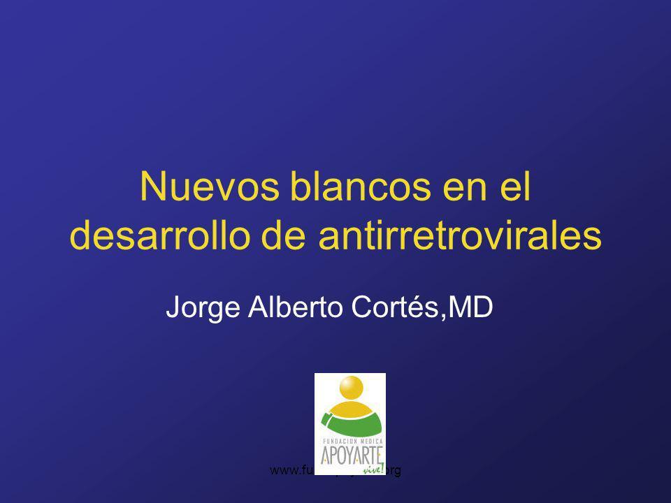 Nuevos blancos en el desarrollo de antirretrovirales