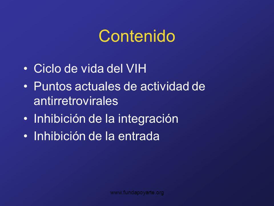 Contenido Ciclo de vida del VIH
