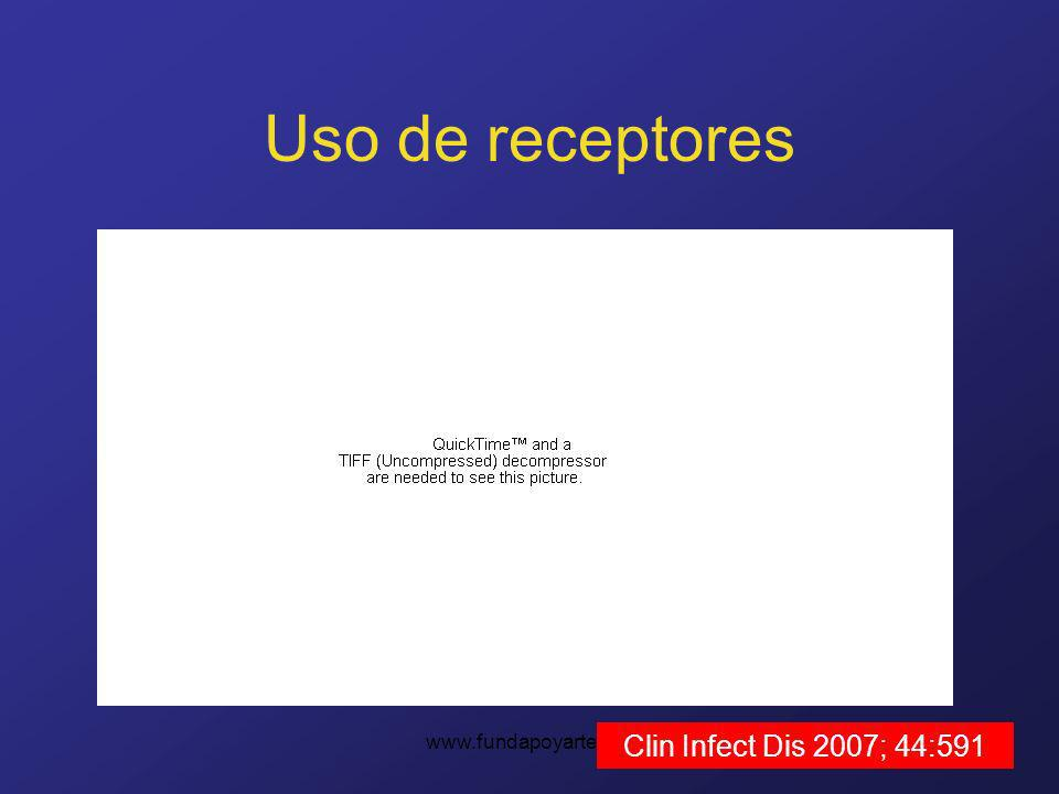 Uso de receptores www.fundapoyarte.org Clin Infect Dis 2007; 44:591