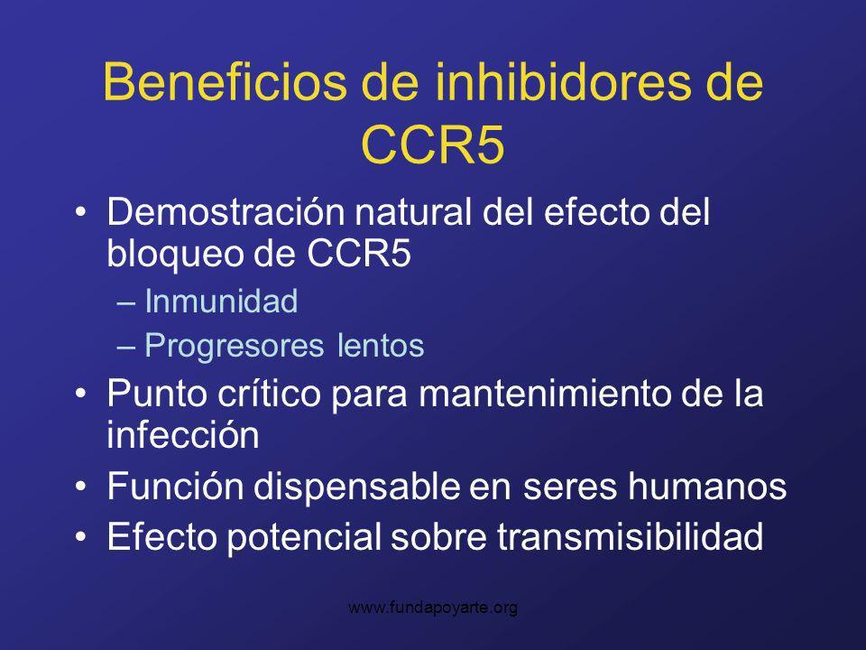 Beneficios de inhibidores de CCR5