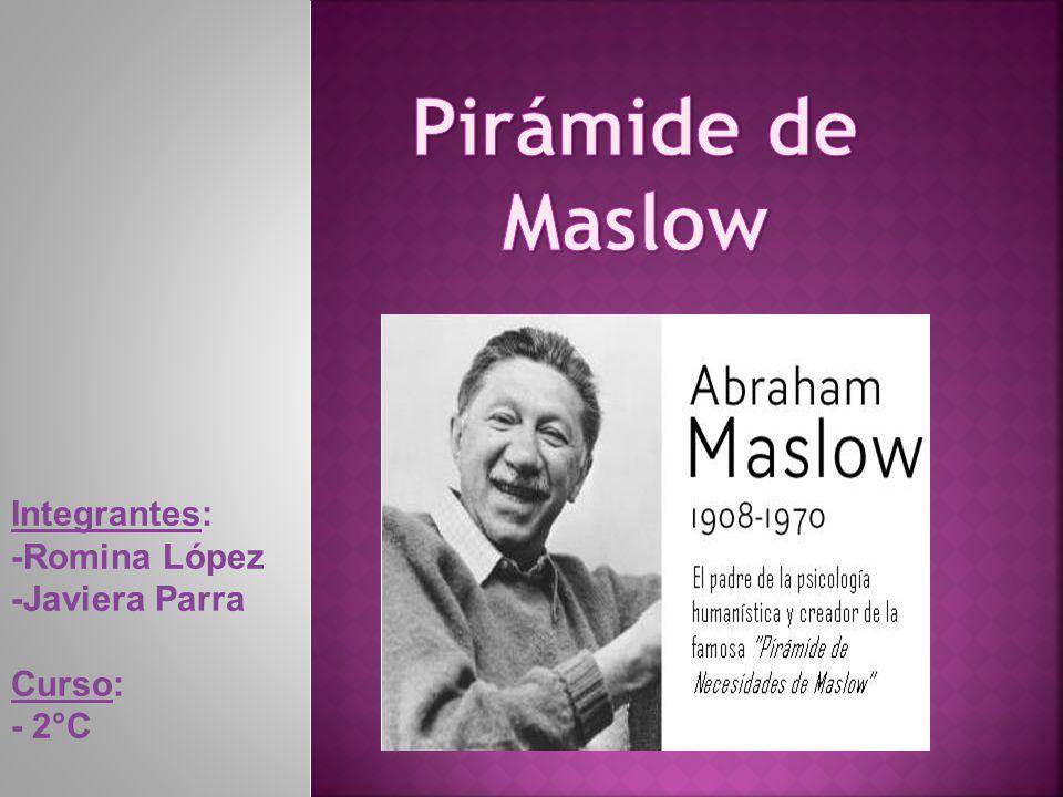 Pirámide de Maslow Integrantes: -Romina López -Javiera Parra Curso: