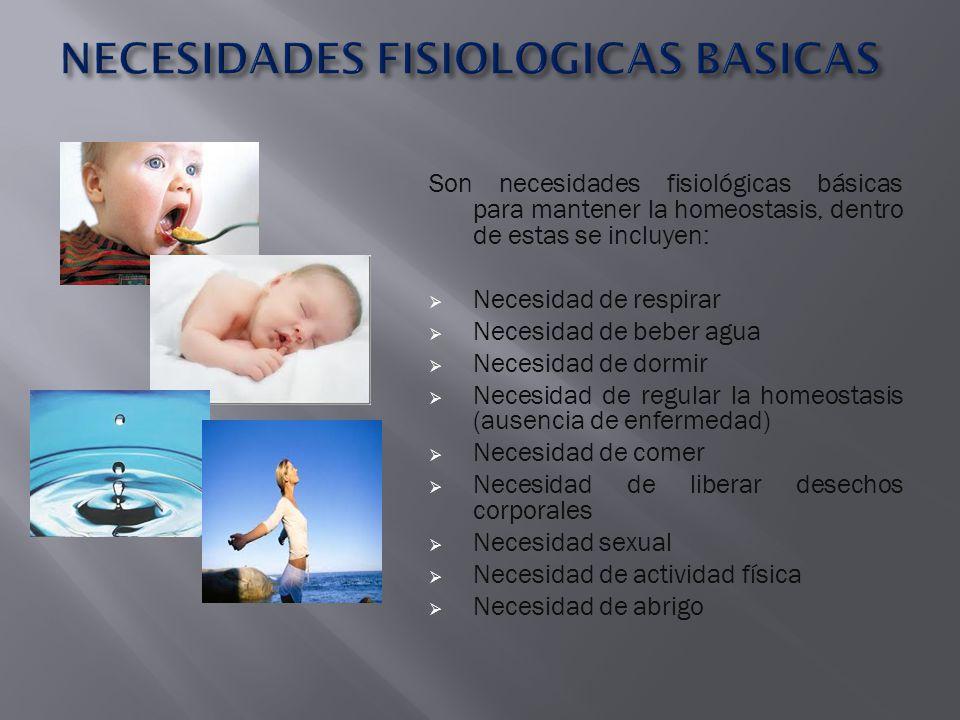 NECESIDADES FISIOLOGICAS BASICAS