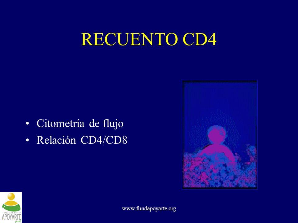 RECUENTO CD4 Citometría de flujo Relación CD4/CD8 www.fundapoyarte.org
