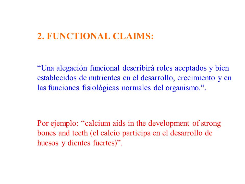 2. FUNCTIONAL CLAIMS: