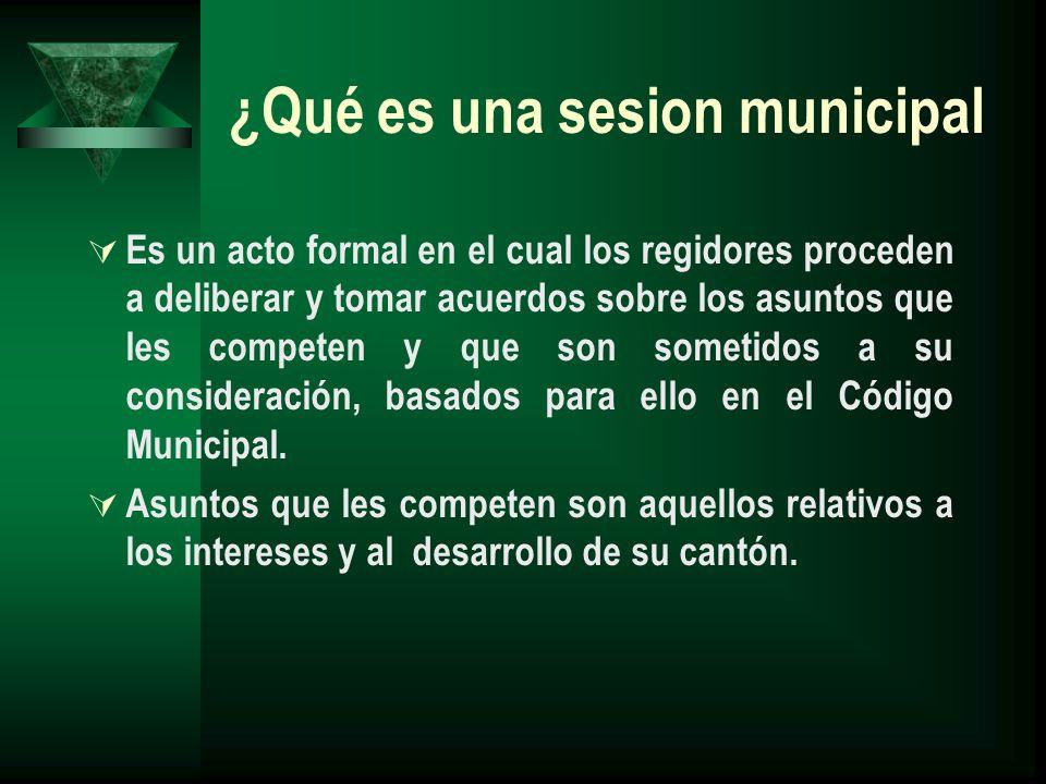 ¿Qué es una sesion municipal