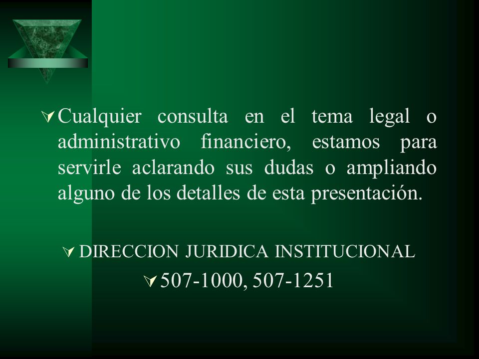 DIRECCION JURIDICA INSTITUCIONAL