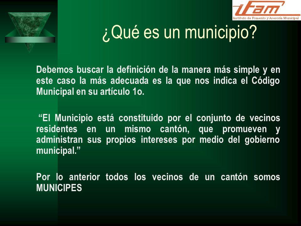 ¿Qué es un municipio