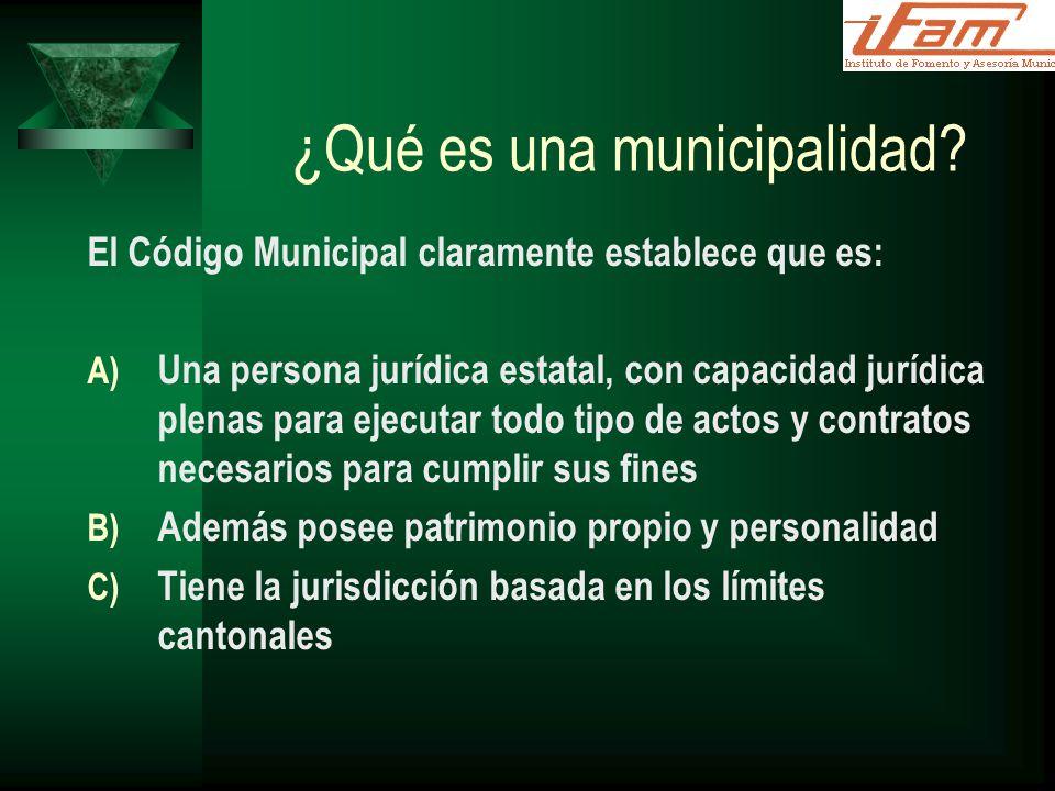 ¿Qué es una municipalidad