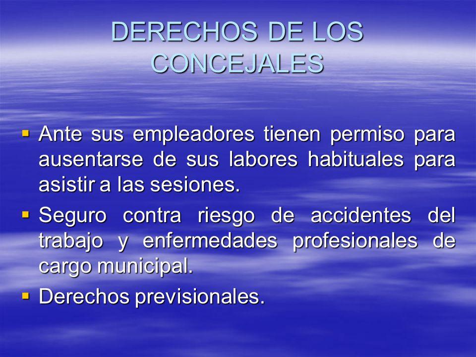 DERECHOS DE LOS CONCEJALES
