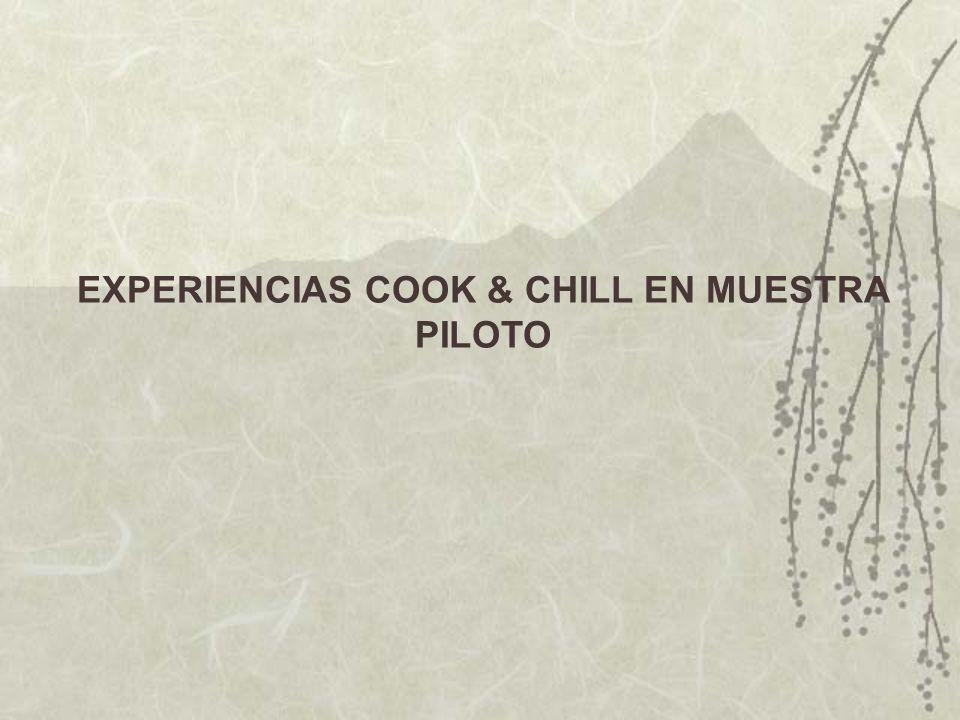 EXPERIENCIAS COOK & CHILL EN MUESTRA PILOTO