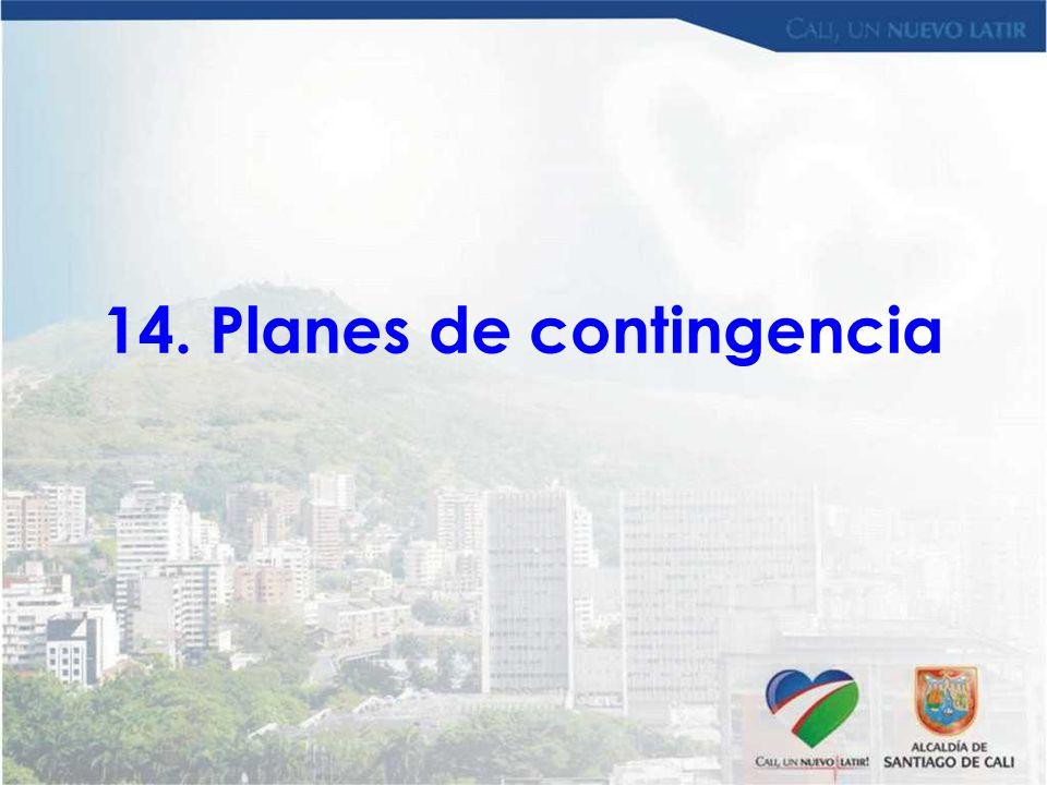 14. Planes de contingencia
