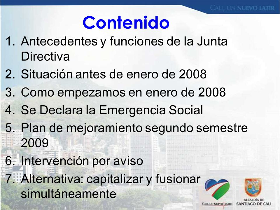 Contenido Antecedentes y funciones de la Junta Directiva