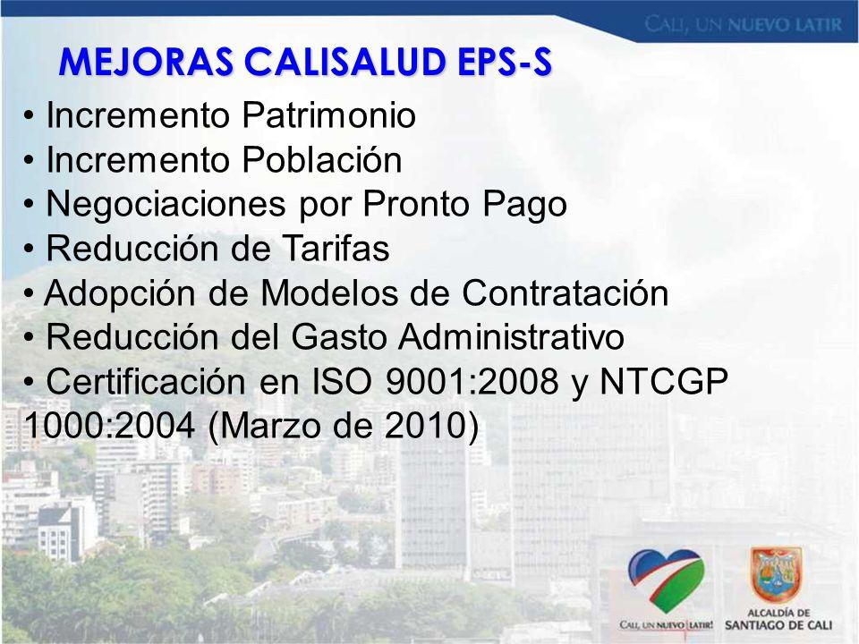 MEJORAS CALISALUD EPS-S