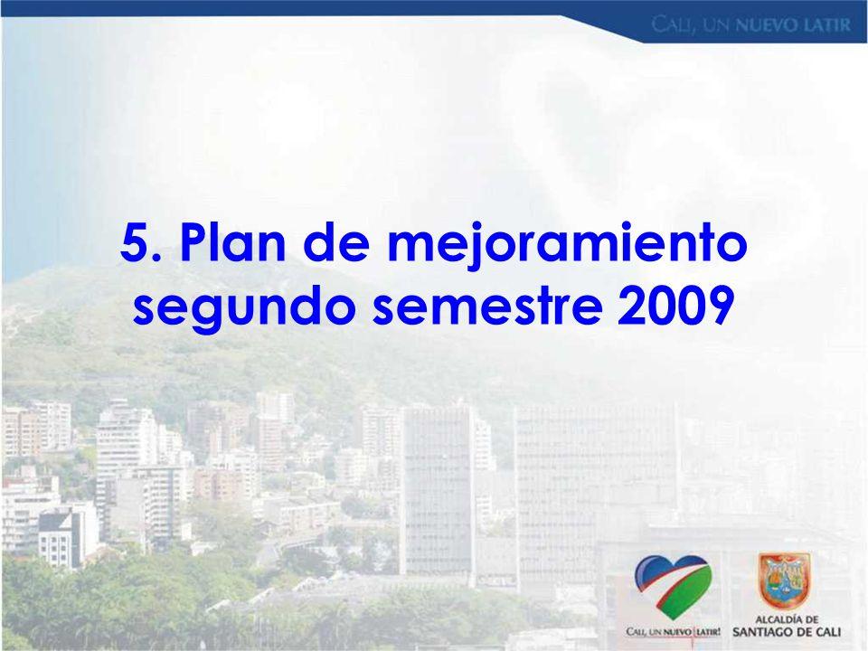 5. Plan de mejoramiento segundo semestre 2009