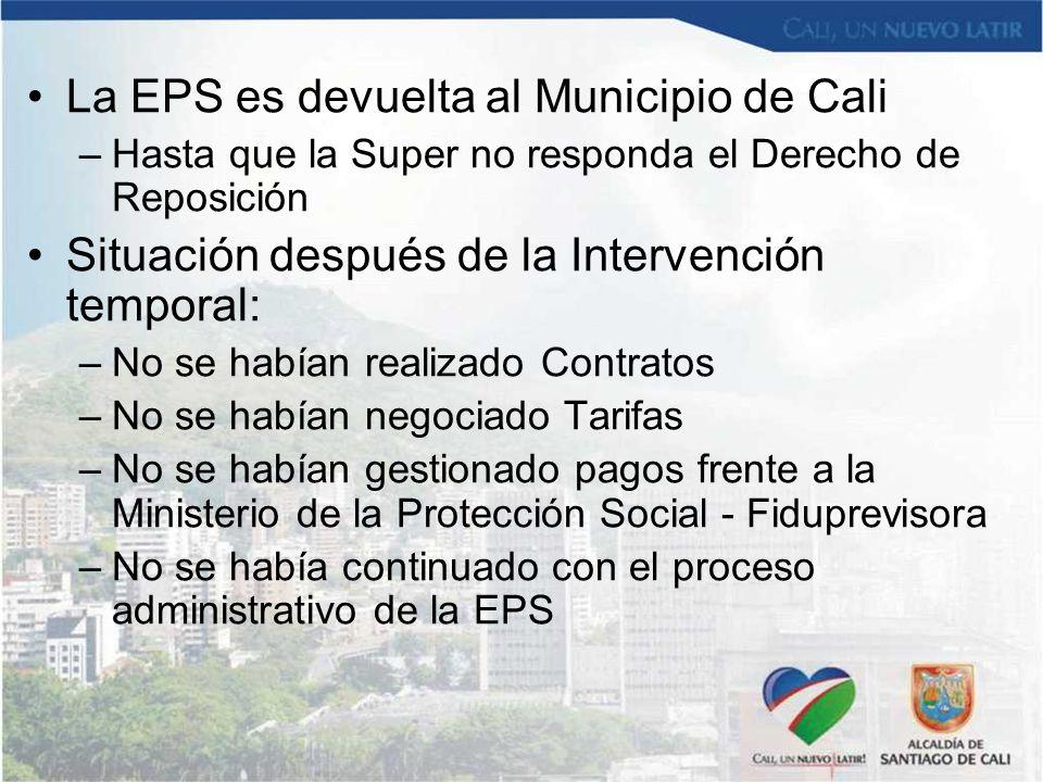 La EPS es devuelta al Municipio de Cali