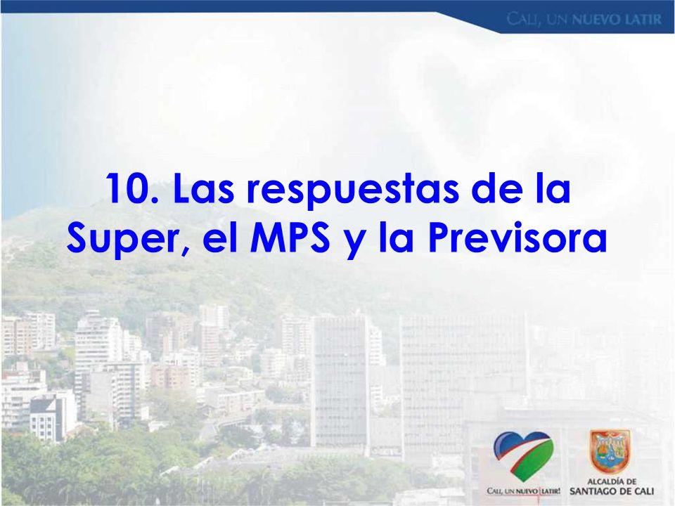 10. Las respuestas de la Super, el MPS y la Previsora