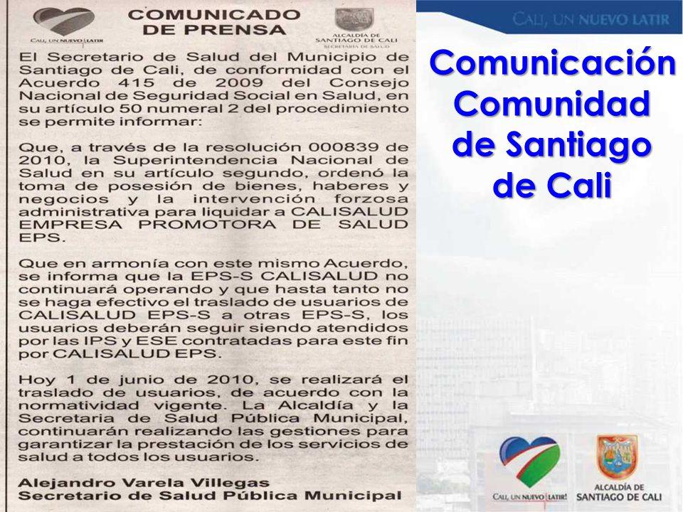 Comunicación Comunidad de Santiago de Cali