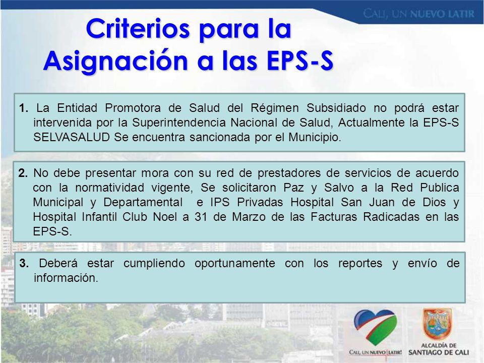 Criterios para la Asignación a las EPS-S