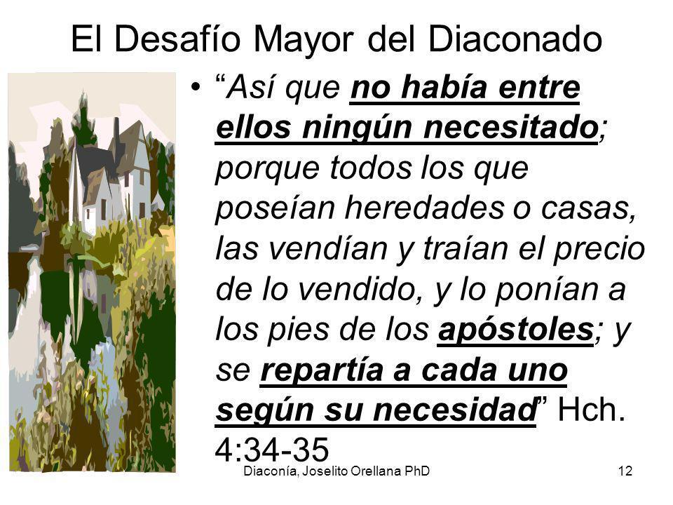 El Desafío Mayor del Diaconado