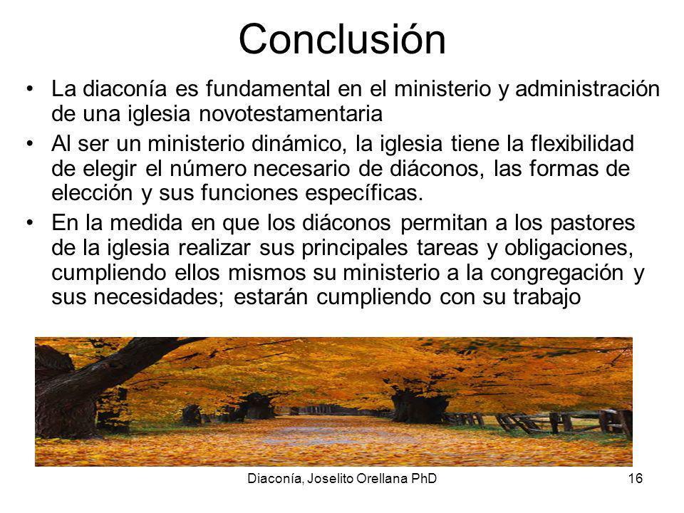 Diaconía, Joselito Orellana PhD