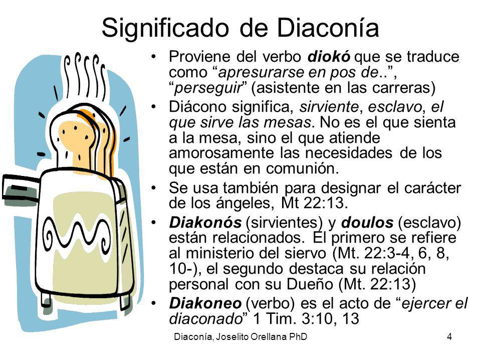 Significado de Diaconía