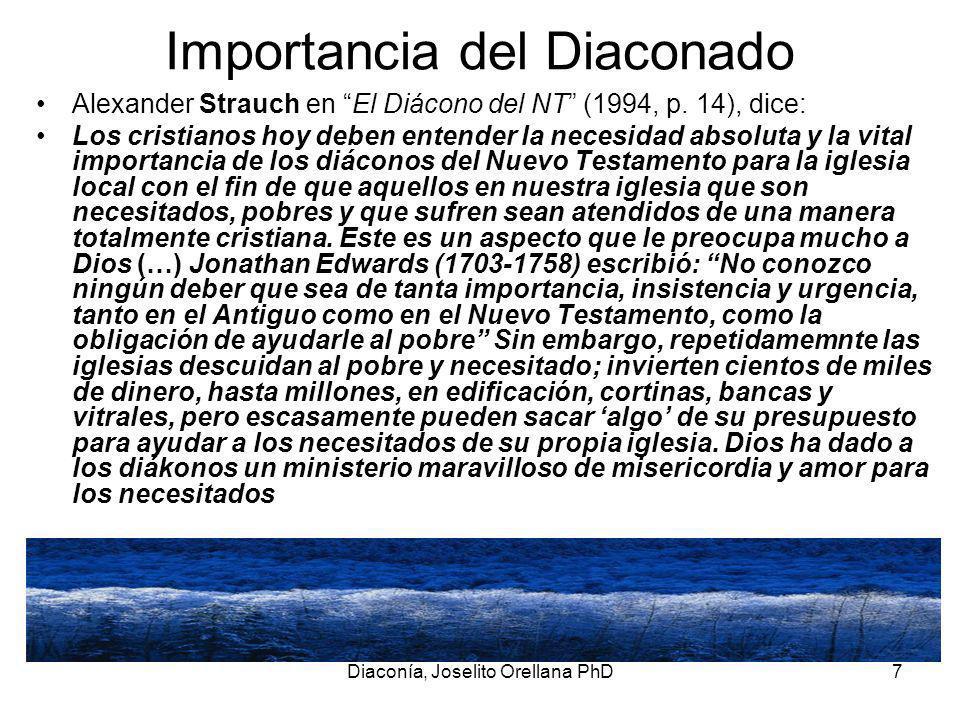 Importancia del Diaconado