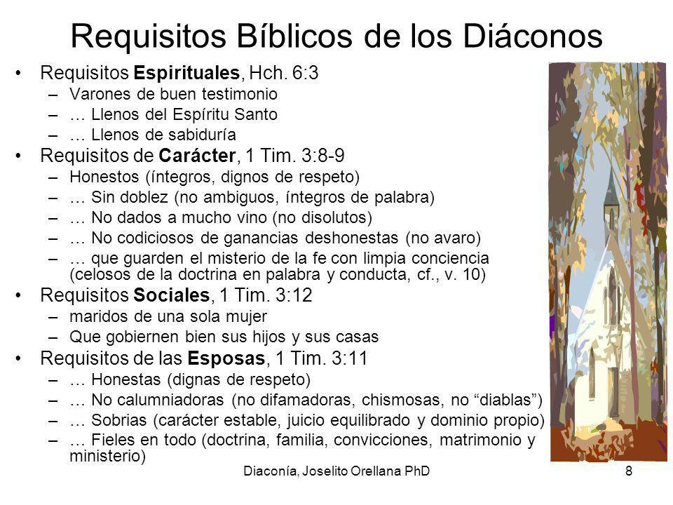 Requisitos Bíblicos de los Diáconos