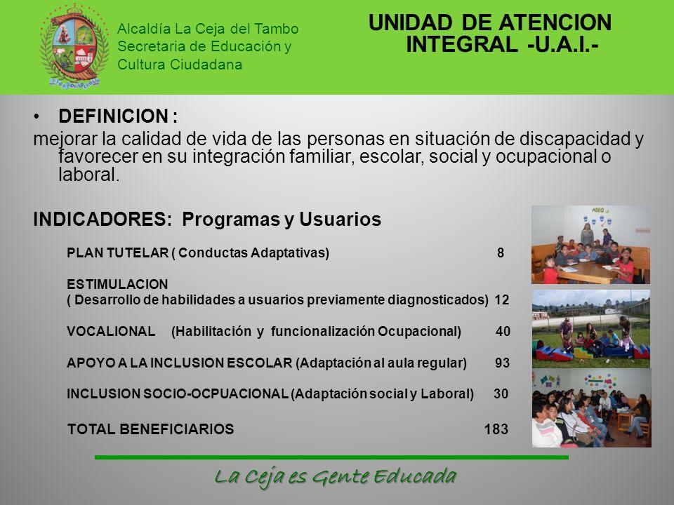 UNIDAD DE ATENCION INTEGRAL -U.A.I.-