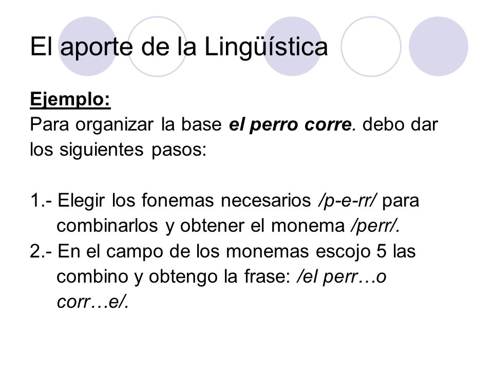 El aporte de la Lingüística