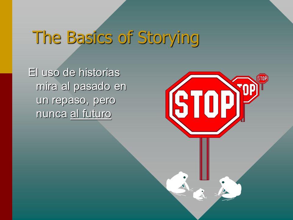 The Basics of Storying El uso de historias mira al pasado en un repaso, pero nunca al futuro