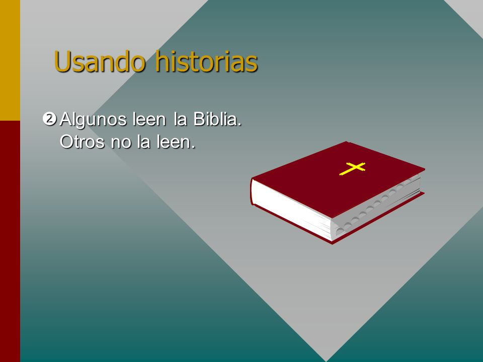 Usando historias Algunos leen la Biblia. Otros no la leen.