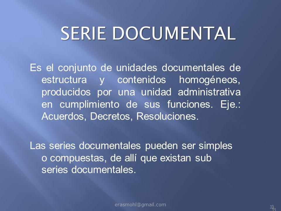 SERIE DOCUMENTAL