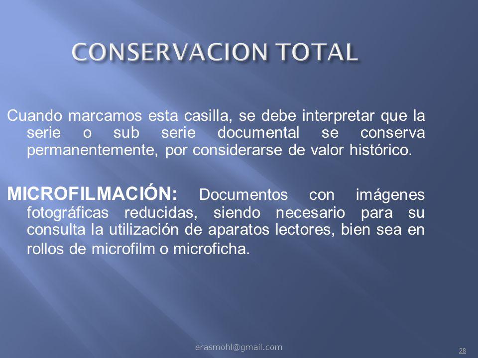 CONSERVACION TOTAL