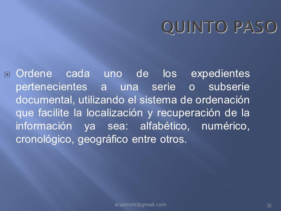 QUINTO PASO