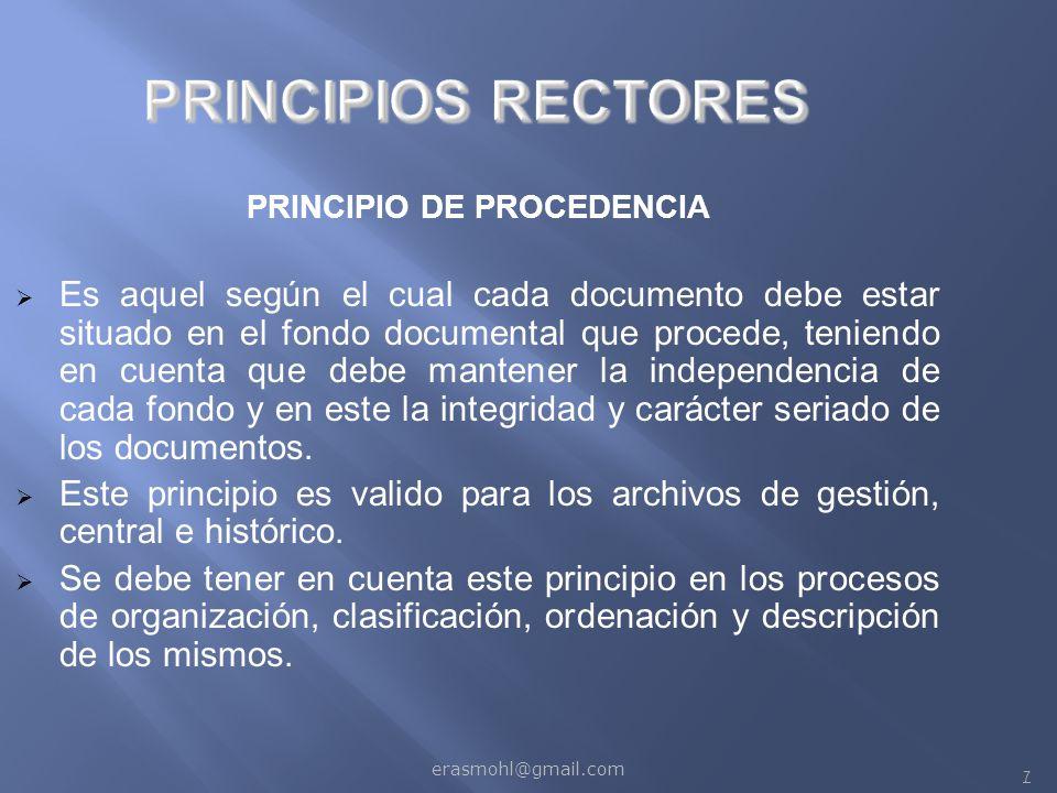 PRINCIPIO DE PROCEDENCIA