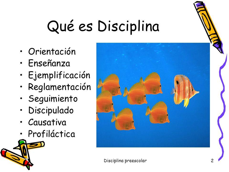 Disciplina preescolar