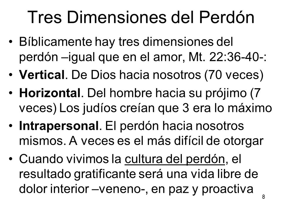 Tres Dimensiones del Perdón