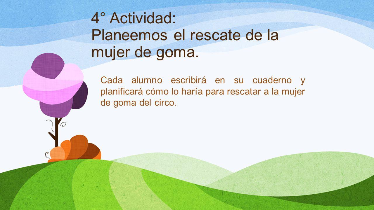 4° Actividad: Planeemos el rescate de la mujer de goma.
