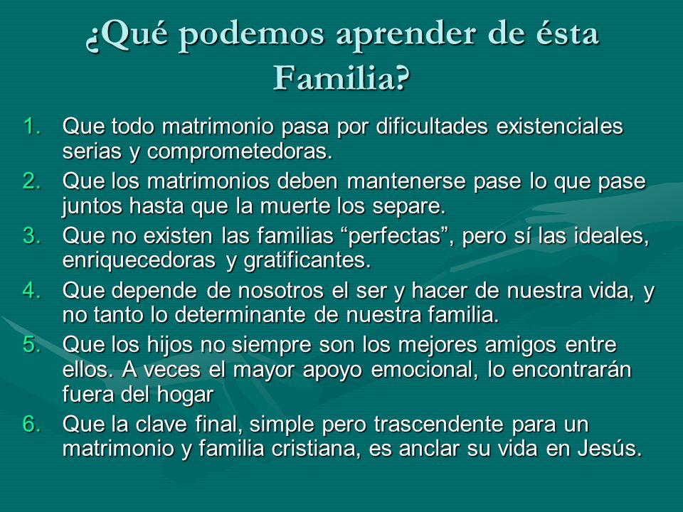 ¿Qué podemos aprender de ésta Familia