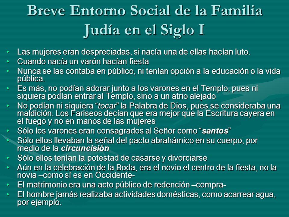 Breve Entorno Social de la Familia Judía en el Siglo I